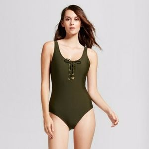 NEW! One Piece swimsuit lace up front